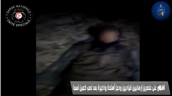 قتلا 7 جنود وذبحا الشقيقين السلطاني : الداخلية تنشر فيديو القبض على إرهابيين بالقصرين
