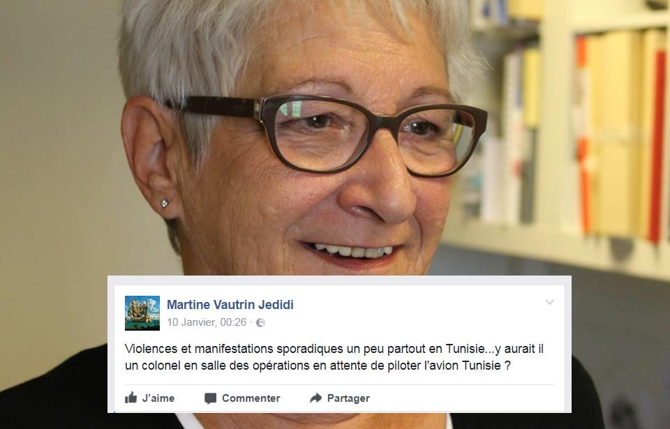 تساءلت عن وجود عقيد عسكري يتأهّب لقيادة البلاد : حملة فايسبوكية ضدّ مستشارة فرنسيّة في تونس
