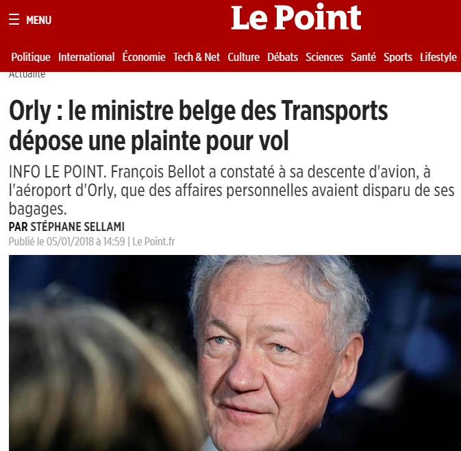 كان في زيارة خاصة إلى جربة : وزير النقل البلجيكي يتعرّض للسرقة!!
