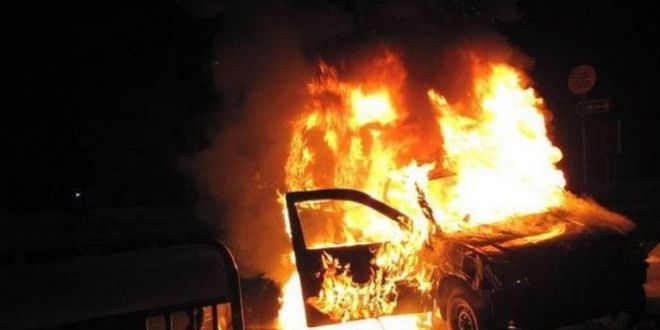 تطاوين : قتيل وجريح في احتراق سيّارة تهريب