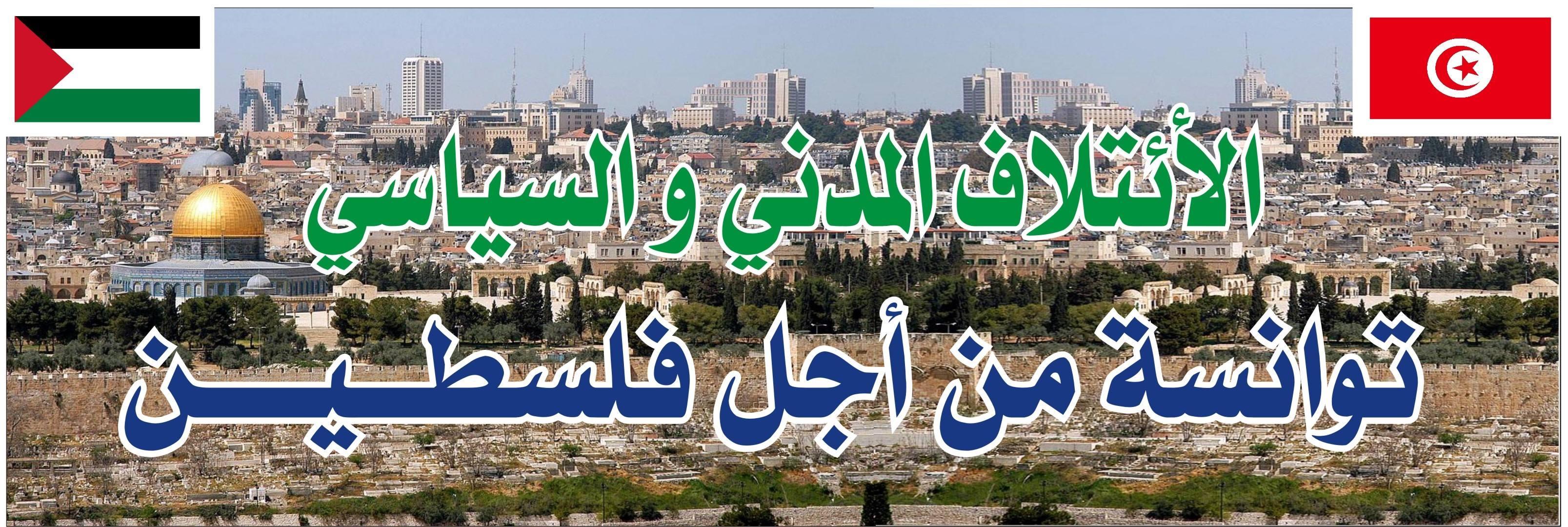 """بسبب تعطيل عرض مشروع قانون تجريم التطبيع : """"توانسة من أجل فلسطين"""" يحتجّون أمام البرلمان"""