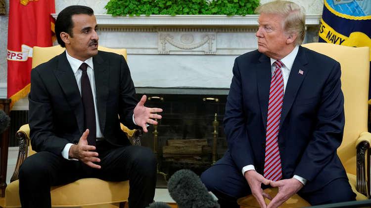 """تمويل ضرب سوريا: أمير قطر يتعهّد بمضاعفة الدعم لواشنطن وترامب يصفه بـ""""الصديق الرائع""""!"""