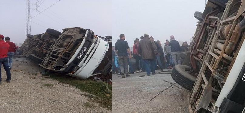 82 إصابة وقتيلتان : هذه الحصيلة النهائيّة لحادث حافلتي نقل العاملات بالمنستير