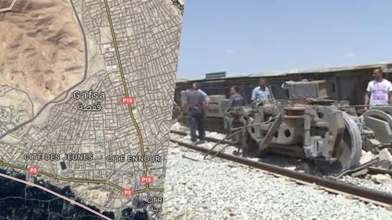 قفصة: جريح حالته خطيرة في اصطدام شاحنة بقطار لنقل الفسفاط