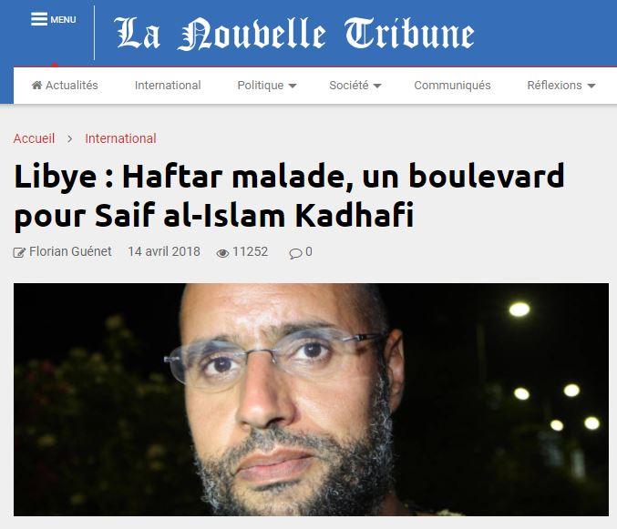سيف الإسلام القذافي الأكثر استفادة من مرض حفتر!