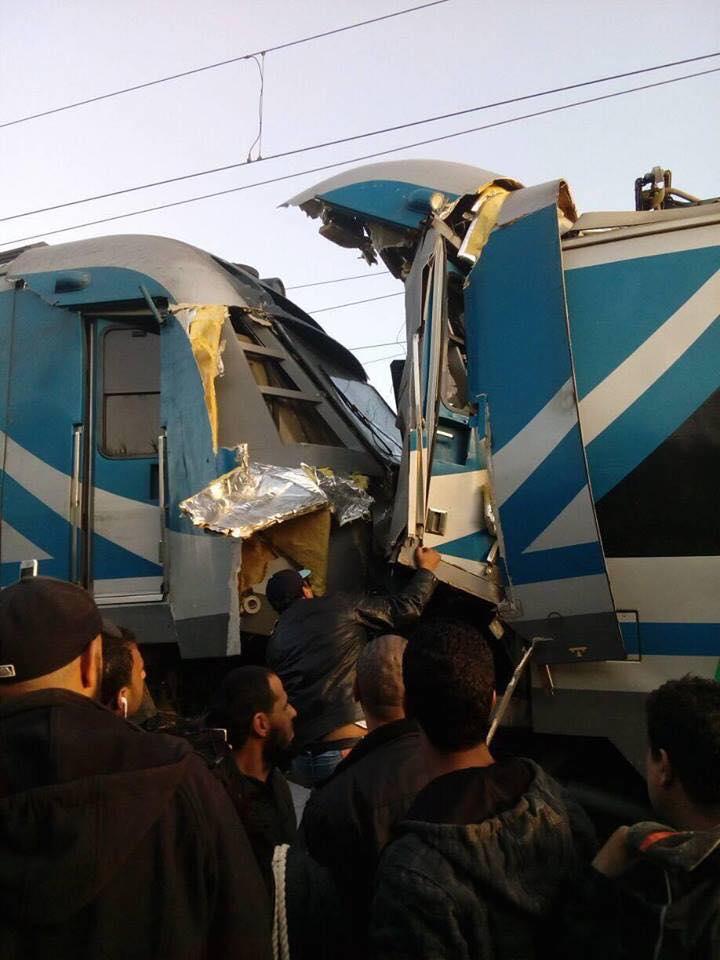 مقرين : اصطدام بين قطارين