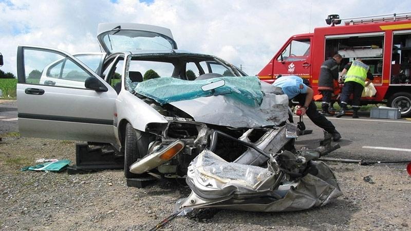 حادث مرور يكشف عن وفد تركي يُوزّع مُساعدات في سليانة