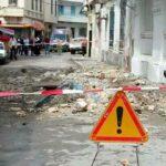 صور: سقوط شرفة إحدى العمارات بالعاصمة