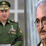 وزير الدفاع الروسي يبحث مع حفتر قضايا الأمن بالمنطقة