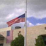 جامعة الثانوي تٌنظّم وقفة احتجاجيّة أمام سفارة أمريكا