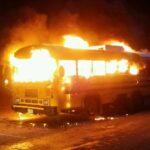 بنزرت: احتراق حافلة في حادث مرور