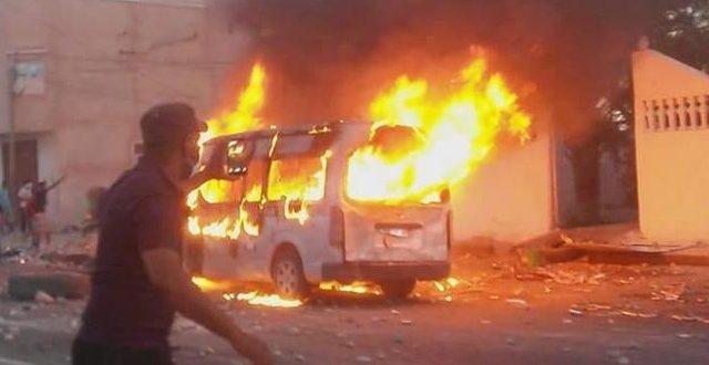 بني خداش: مُحتجّون يحرقون مركز الحرس ومقرّ المعتمدية