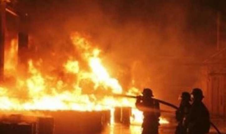 القيروان: حريق هائل يأتي على مصنع خياطة
