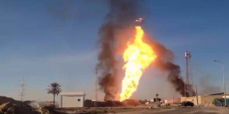 القصرين: اندلاع حريق بأنبوب غاز