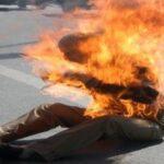 بن قردان: شاب يُضرم النّار في جسده