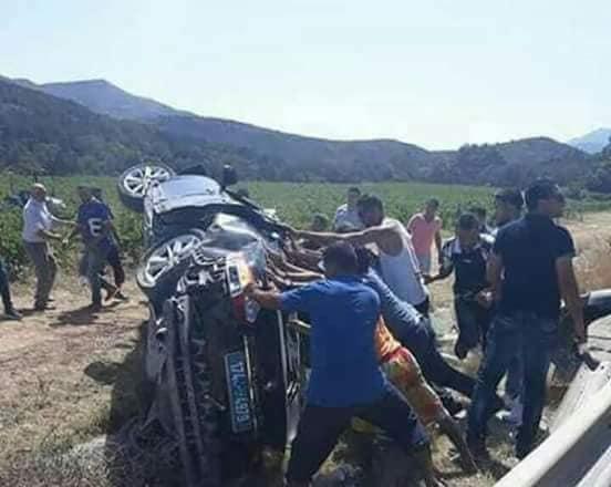الحمامات: 4 جرحى في انزلاق سيارة بالطريق السريعة
