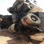 باجة: جريحان في انقلاب شاحنة ثقيلة