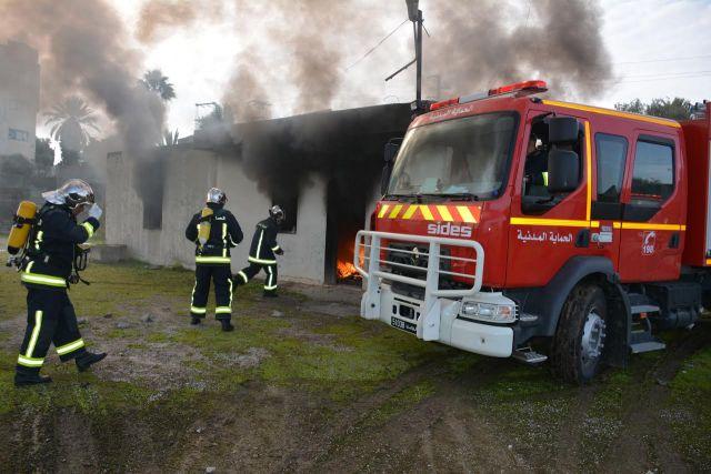 بن عروس: حريق هائل بمعمل لرسكلة النفايات البلاستيكية