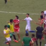 فيديو: مباراة كرة قدم تتحوّل الى معركة