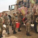الجيش الجزائري يتدخل لإجلاء المتضررين من طوفان الأمطار