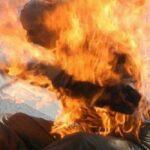 أمام منطقة الشرطة ببنزرت: مواطن يُحاول الانتحار حرقا