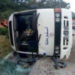 منزل بوزلفة: إصابة 12 لاعبة كرة طائرة في انقلاب حافلة