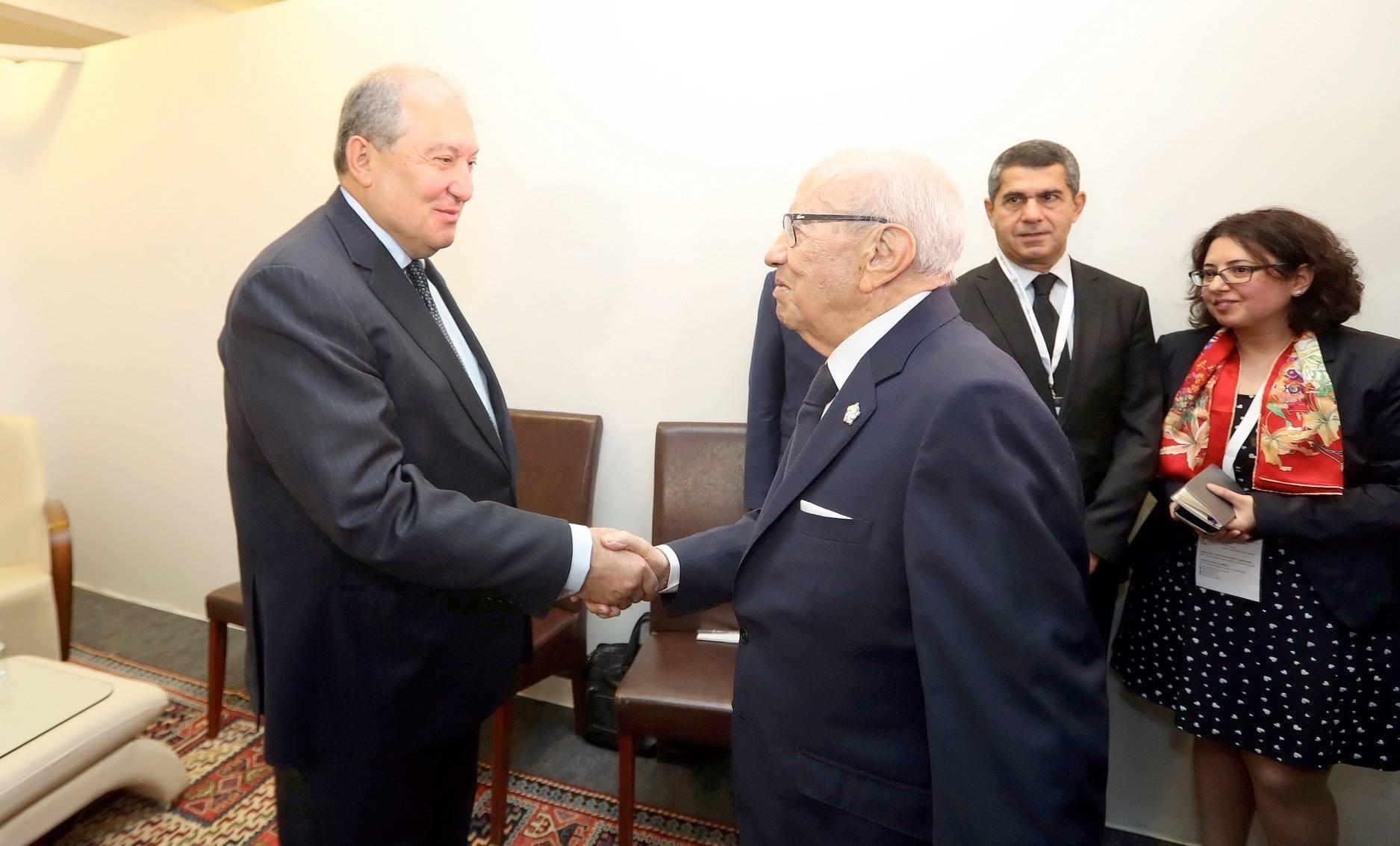لقاءات رئيس الجمهورية في القمة الفرنكوفونية