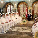 رئيس الجمهورية يستقبل مُمثلّي جيوش بحر 9 دول