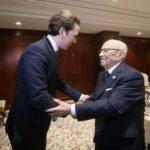 رئيس الجمهورية يلتقي مستشار النمسا