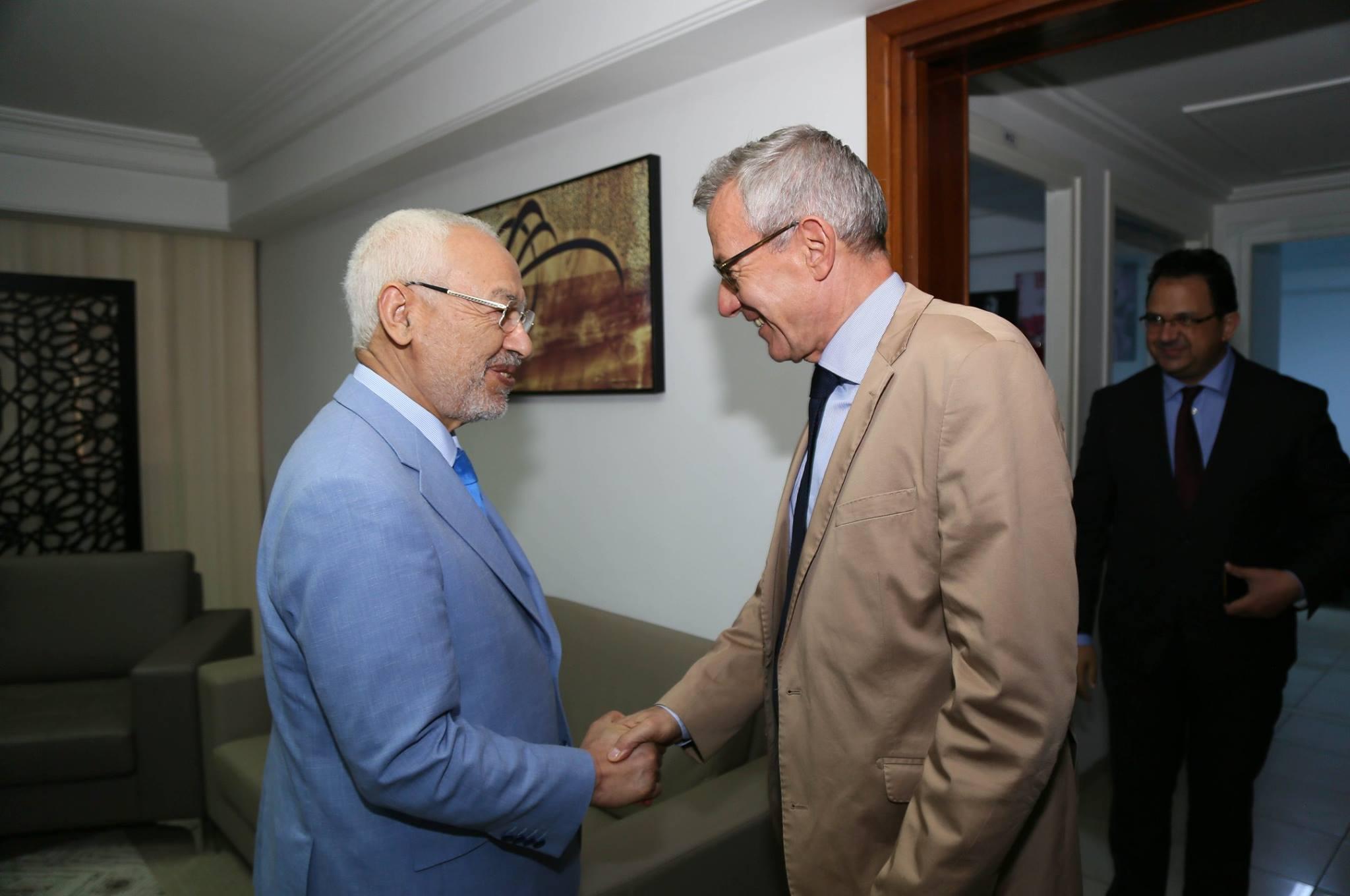 بعد سفير فرنسا: الغنوشي يلتقي سفير ألمانيا