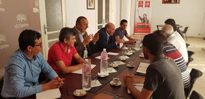 """منها """"الجمهوري"""": 3 أحزاب تحشد لدعم هيئة الدّفاع عن بلعيد والبراهمي"""