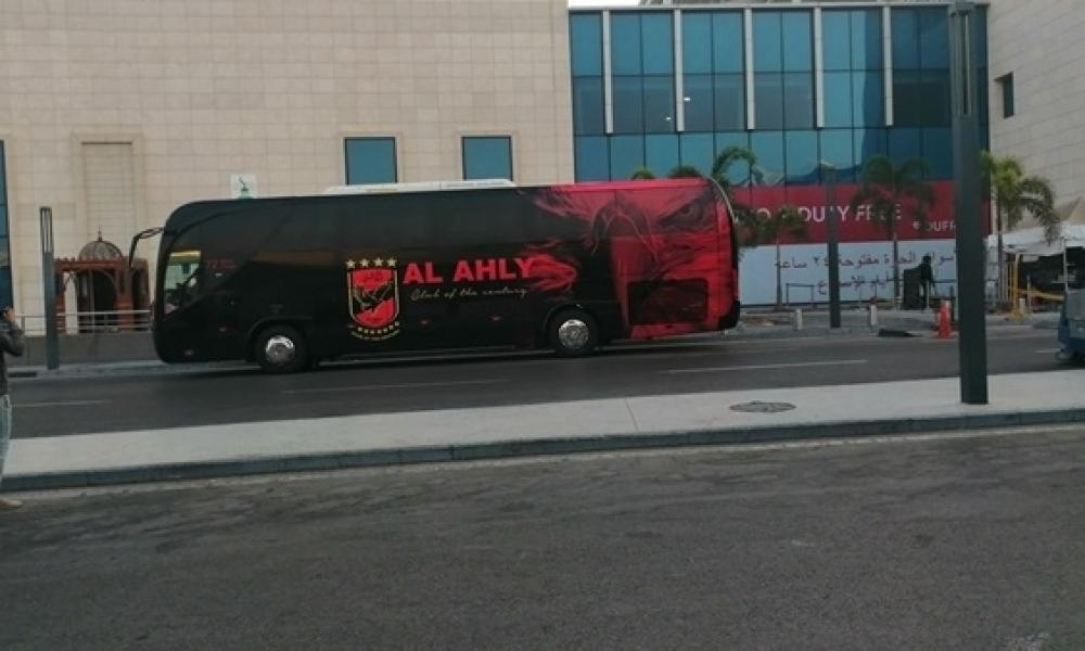 حراسة أمنية مكثّفة رافقت حافلة الأهلي المصري إلى ملعب رادس