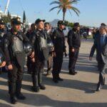 وزير الداخلية يتفقّد الاجراءات الأمنية بملعب رادس