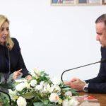 وديع الجريء عند وزيرة الشباب والرياضة الجديدة
