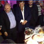 روني الطرابلسي يتوسط قيادات النهضة في احتفال الغنوشي بعيد ميلاده