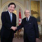 رئيس الجمهورية يلتقي الوزير الأول الكوري الجنوبي