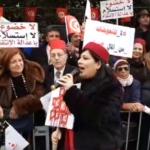 رفعوا صور بورقيبة: أنصار حزب عبير موسي يحتجّون على هيئة بن سدرين