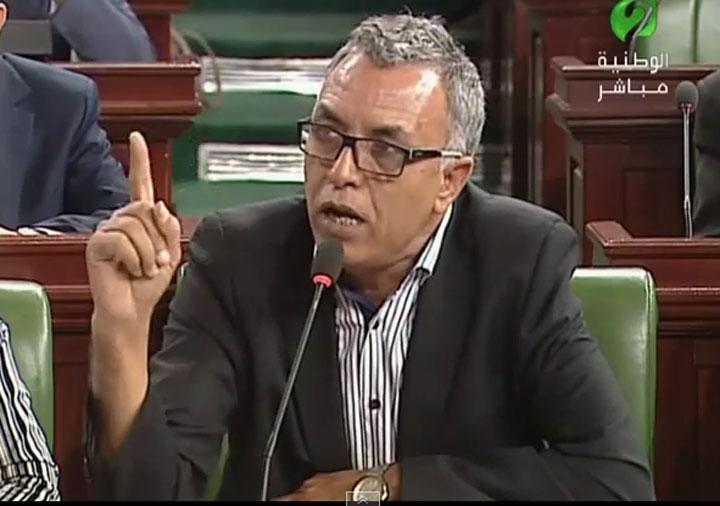 """الهمامي لرفيق عبد السلام : الجبهة ترغب في الإطاحة بحكومة """"السراق"""" أمثالك"""