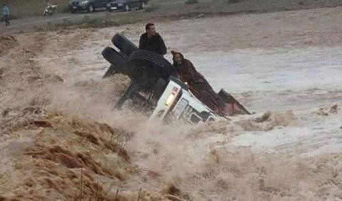 منسوب وادي مجردة بلغ 9 أمتار وولاية باجة تُحذّر من فيضانات