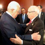 """""""الباجي"""" في لقائه بعبّاس: تونس ستدعم الفلسطينيين لبناء دولتهم المُستقلّة"""