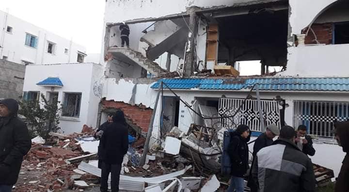 المروج 5 : جريحة وخسائر مادية فادحة إثر انفجار منزل (صور)