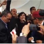 سيدي بوزيد: رشق موكب عبير موسي بالبيض والحجارة (فيديو)