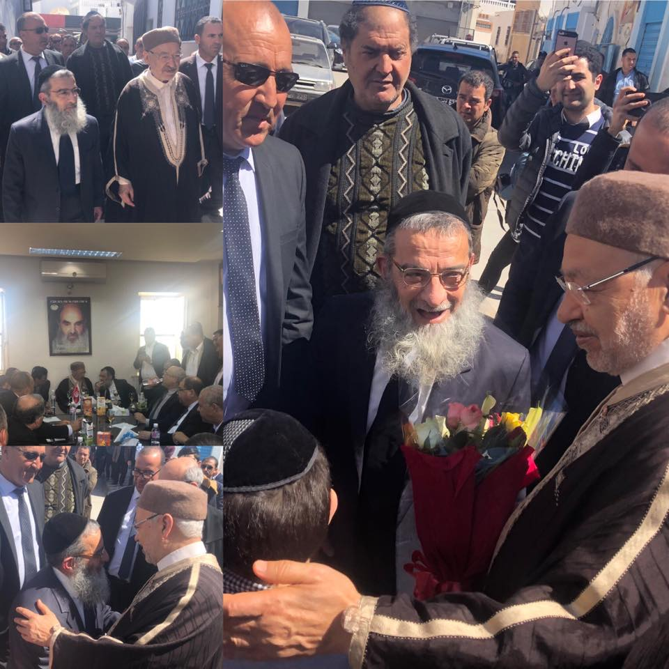 لقاء بين الغنوشي وكبير الأحبار بتونس