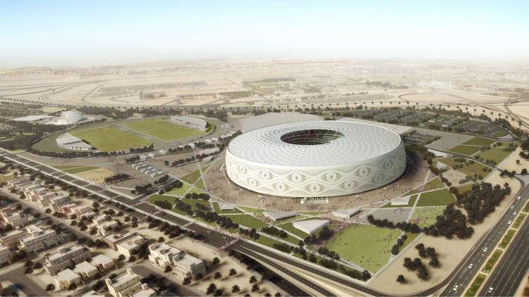 حريق في أحد ملاعب كأس العالم في قطر
