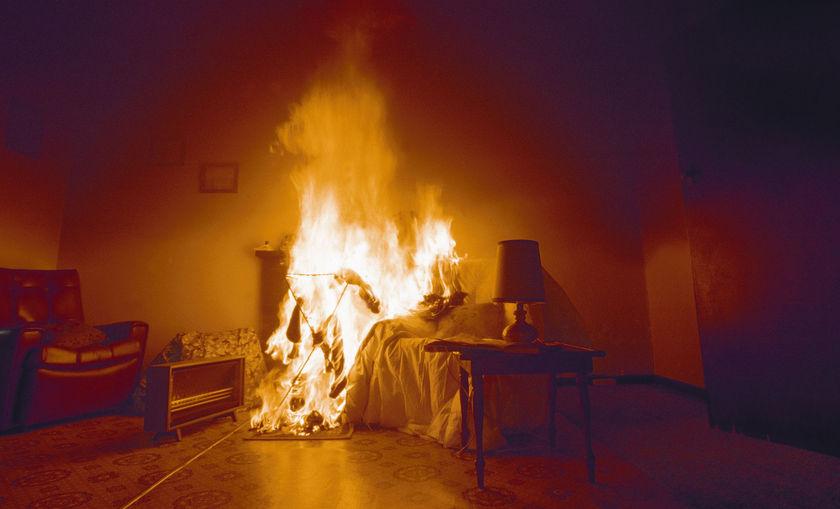 بوحجلة: العثور على جثّة مُتفحّمة إثر حريق بمنزل