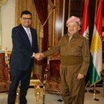 رئيس كردستان يلتقي خالد شوكات