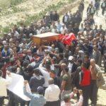 قفصة : كاتب عام ولاية فقط في تشييع جثمان شهيد جبل عرباطة