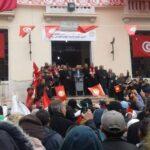 باجة: مُحاصرة منافذ مقر اجتماع الاتحاد والأمن يُؤمّن خروج الطبوبي