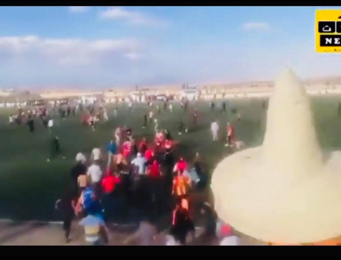 شغب وعنف بعد اقتحام الجماهير ملعب مباراة المتلوي والافريقي