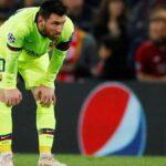 حافلة برشلونة تترك ميسي وحيدا وتغادر ملعب الانفيلد